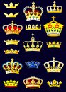 Heraldic album crowns page vector set of Stock Photography