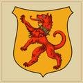Heraldic beast on shield