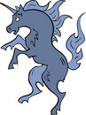 Heraldic blue unicorn Royalty Free Stock Image
