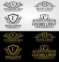 Heraldic Crest Logos and Badges Vol 3 Royalty Free Stock Photo