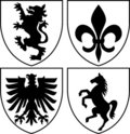 Heraldic Crests/Coat of Arms eps Royalty Free Stock Photography