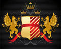 Heraldic design Stock Photo