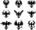 Heraldic eagle coat of arms set Royalty Free Stock Image