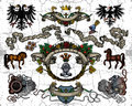 Heraldic elements Royalty Free Stock Photo