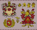 Heraldic elements set 15 Royalty Free Stock Photo