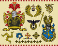 Heraldic elements set 16 Stock Photography