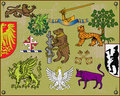 Heraldic elements set 2 Royalty Free Stock Photo