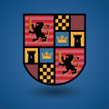 Heraldic emblem abstract color illustration Royalty Free Stock Photos