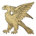 Heraldic Griffin Royalty Free Stock Photo