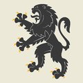 Heraldic lion Royalty Free Stock Photo