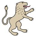 Heraldic lion / illustration Royalty Free Stock Images