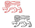 Heraldic lion king Royalty Free Stock Photography