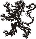 Heraldic lion tattoo Royalty Free Stock Photo