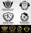 Heraldic Luxury Crest Logos and Badges Royalty Free Stock Photo