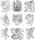 Heraldic monster vol II Stock Image