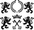 Heraldic monsters Royalty Free Stock Image