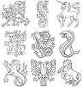 Heraldic monsters vol I Stock Photos
