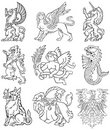 Heraldic monsters vol VIII Stock Photos