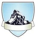 Heraldic mountain crest Royalty Free Stock Photo