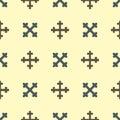 Heraldic royal crest medieval knight elements vintage king symbol heraldry seamless pattern vector illustration Royalty Free Stock Photo