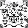 Heraldic set Stock Photo
