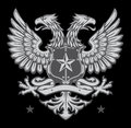 Heraldic shield crest two headed germanic eagle Stock Photography
