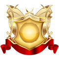 Heraldic shield v.3 Royalty Free Stock Images