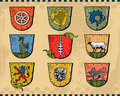 Heraldic Shields Stock Photo