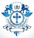 Heraldic sign, element, heraldry emblem, insignia, sign, vector.