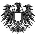 Heraldic style eagle Stock Photography