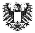 Heraldic style eagle isolated on white Royalty Free Stock Photos