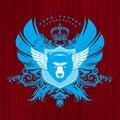 Heraldry with bear head