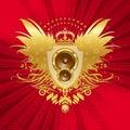 Heraldry with loudspeakers Royalty Free Stock Photo