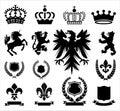 Heraldry Ornaments Royalty Free Stock Photo