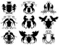 Heraldry set vector Stock Photos