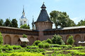The herb garden in monastery orthodox suzdal russia Royalty Free Stock Photos