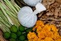 The Herbal compress ball Stock Photos
