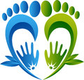 Herbal foot massaging logo