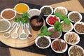 Herbal Health Ingredients Royalty Free Stock Photo