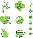 Herbal icons Stock Image