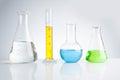 herbal medicine natural organic and scientific glassware Royalty Free Stock Photo