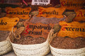 Herbal medicine, street vendor of medicinal herbs, wellness, spi Royalty Free Stock Photography