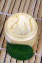 Herbal moisturizing cream Stock Images