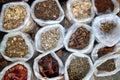 Herbal natural medicines vegetal herbs Royalty Free Stock Photo