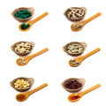 Herbal pills collection a of on white background Royalty Free Stock Photo