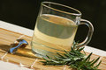 Herbal tea with fresh rosemary Stock Photo