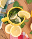 Herbal tea hot with mint and lemon Stock Photography
