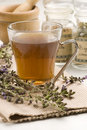 Herbal tea. Lavender. Royalty Free Stock Photos