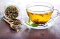 Herbal tea mix of bio Stock Images