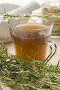 Herbal tea. Rosemary. Royalty Free Stock Photos